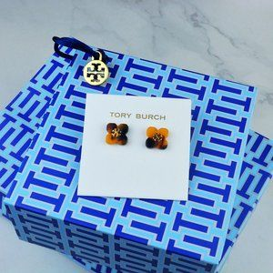 Tory Burch Amber Petal Resin Earrings